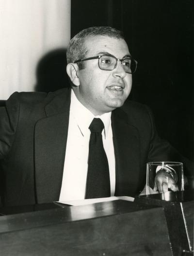Antonio Quilis en el V Simposio de la Sociedad Española de Lingüística