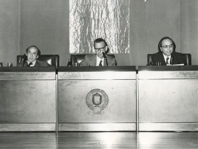 Carlos Bousoño, Eugenio de Bustos y Francisco Brines en el ciclo Literatura Viva