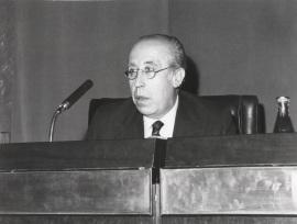 Francisco García Pavón en el ciclo Literatura Viva, 1976