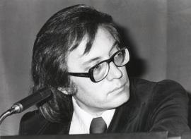 Francisco Umbral en el ciclo Literatura Viva, 1976