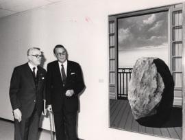 Françoise Daulte y Pierre Grafe. Exposición René Magritte, 1989