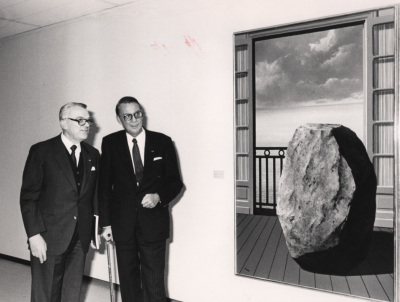 Françoise Daulte y Pierre Grafe. Exposición René Magritte