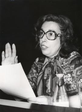 Eulalia Rodón. Conferencia sobre Feijóo en el pensamiento político y social de la Ilustración dentro del ciclo Centenario de Feijóo , 1976
