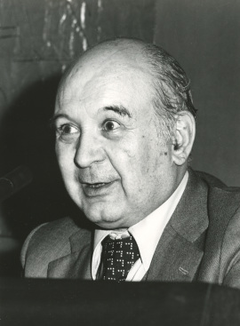 Martín de Riquer en el I Simposio de la Sociedad Española de Literatura General y Comparada, 1977