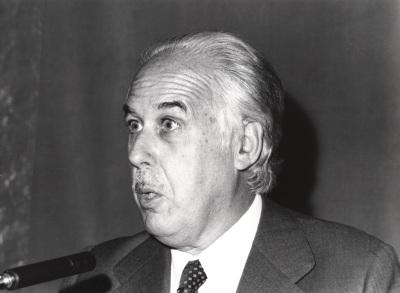 Manuel Fernández Galiano en el I Simposio de la Sociedad Española de Literatura General y Comparada