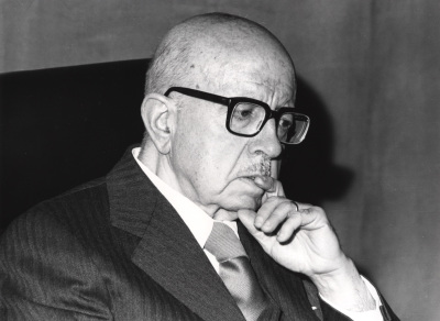 Dámaso Alonso en el I Simposio de la Sociedad Española de Literatura General y Comparada