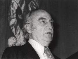 Francisco Ayala en el curso universitario sobre El escritor y la sociedad, 1978