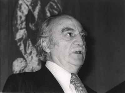 Francisco Ayala en el curso universitario sobre El escritor y la sociedad