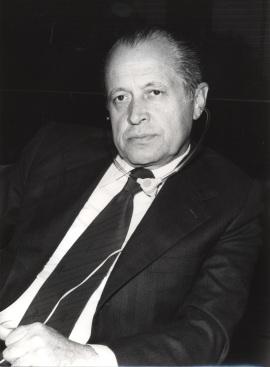 José María Segovia de Arana en el IX Simposio Interdisciplinar de Filosofía y Medicina, 1979