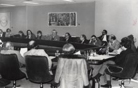 Antonio Bonet Correa en la reunión de la Asociación Española de Críticos de Arte, 1979