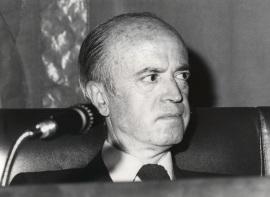 Eusebio Sempere. Conferencia sobre Naturaleza Muerta y diversas cuestiones del arte del siglo XX en la mesa redonda en torno a la Exposición Maestros del siglo XX , 1979