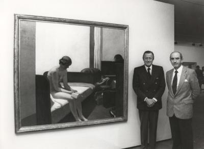 Hans Heinrich von Thyssen-Bornemisza y José Luis Yuste Grijalba. Exposición Edward Hopper