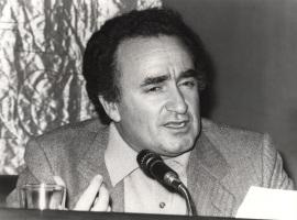 Xesús Alonso Montero. Conferencia sobre Celso Emilio Ferreiro dentro del ciclo Cuatro escritores gallegos , 1979