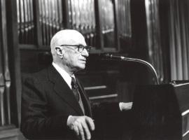 Rodolfo Halffter en el Homenaje a Rodolfo Halffter en sus 80 años, 1980