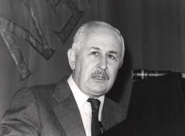José Luis Pinillos Díaz en el ciclo Problemas actuales de la psicología científica, 1980