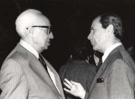 Juan Marichal y Severo Ochoa. Conferencia sobre La recuperación intelectual del liberalismo español (1909-1923) dentro del ciclo El intelectual y la política: tres décadas españolas (1909-1939) , 1980