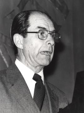 Juan Marichal. Conferencia sobre La recuperación intelectual del liberalismo español (1909-1923) dentro del ciclo El intelectual y la política: tres décadas españolas (1909-1939) , 1980