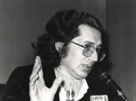 Andrés Amorós Guardiola. Conferencia sobre Ramón Pérez de Ayala y la generación liberal del 14 dentro del ciclo Liberales españoles contemporáneos , 1980