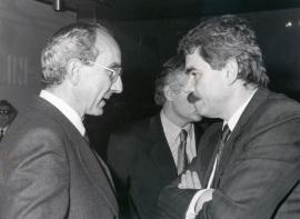 José Luis Yuste Grijalba y Pascual Maragall. Exposición Picasso: retratos de Jacqueline, 1991