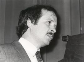 José María Maravall. Conferencia sobre Has Europe got a future? dentro del ciclo Europa, hoy , 1982