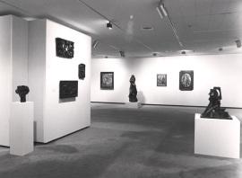 Vista parcial de la exposición Cubismo en Praga Obras de la Galería Nacional, 1990