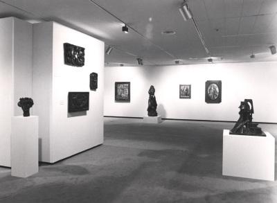 Vista parcial de la exposición Cubismo en Praga Obras de la Galería Nacional