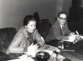 Simone Veil y Manuel Díez de Velasco. Conferencia sobre Le parlement européen dentro del ciclo Europa, hoy , 1982