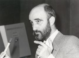 Jaime Cerrolaza en el ciclo sobre Goethe y España, 1982