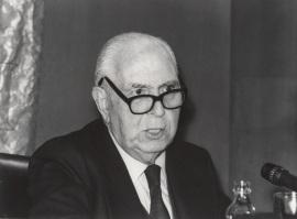Pedro Laín Entralgo en el ciclo El cuerpo humano, 1983
