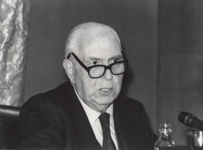 Pedro Laín Entralgo en el ciclo El cuerpo humano