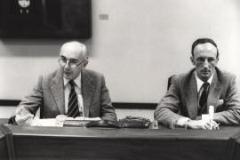 Francesco Capotorti y Eloy Ruiloba Santana. Conferencia sobre Libertad de circulación de mercancías y reglas de competencia dentro del ciclo Cuatro lecciones sobre derecho comunitario , 1983
