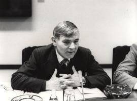 Stefan A. Musto en el ciclo La Europa Comunitaria, 1983