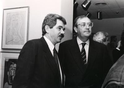 Pascual Maragall y Juan March Delgado. Exposición Picasso Retratos de Jacqueline