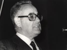 Eduardo García de Enterría. Conferencia sobre Características principales dentro del ciclo El federalismo norteamericano: una visión contemporánea , 1983