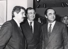 Pascual Maragall, Juan March Delgado y Carlos March Delgado. Exposición Picasso Retratos de Jacqueline, 1991