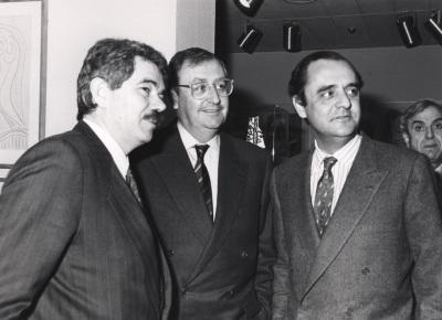 Pascual Maragall, Juan March Delgado y Carlos March Delgado. Exposición Picasso Retratos de Jacqueline