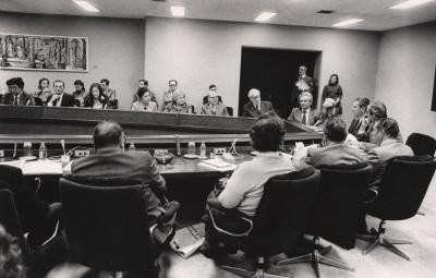 Boris Piotrovoski y Yuri Dubinin en el II Coloquio Hispano Soviético de Historiadores