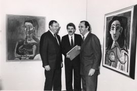 Juan March Delgado, Pascual Maragall y Carlos March Delgado. Exposición Picasso Retratos de Jacqueline, 1991