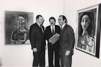 Juan March Delgado, Pascual Maragall y Carlos March Delgado. Exposición Picasso Retratos de Jacqueline