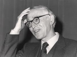 Aaron Klug. Conferencia sobre The structure of chromosomes dentro del ciclo ADN y cáncer , 1984