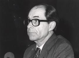 Juan Marichal. Conferencia sobre Historia y libertad: de Michelet a Croce (1830-1933) dentro del ciclo La conciencia liberal: Historia y porvenir , 1984