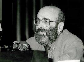 Luis de Pablo en el estreno de su obra We versión definitiva, 1985