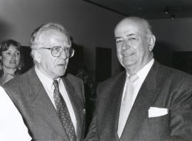 Gerardo Rueda y Julián Gállego. Exposición Vieira da Silva, 1991