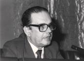 Manuel Díez de Velasco en el seminario La Recepción y Aplicación del Derecho Comunitario Europeo, 1985