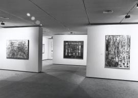 Vista parcial de la exposición Vieira da Silva, 1991