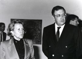 María Barroso y Juan March Delgado. Exposición Vieira da Silva, 1991