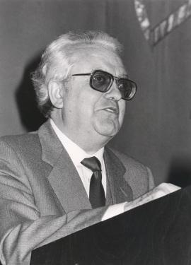 Gregorio Salvador. Conferencia sobre El español en España. I dentro del ciclo Mapa lingüístico de la España actual , 1986