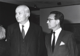 Arnaud de Hauterives y Henri Benoit de Coignac. Exposición Monet en Giverny Colección Museo Marmottan de París, 1991