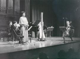Concierto estreno de la obra Le Chevelure de Miguel Ángel Coria, 1988
