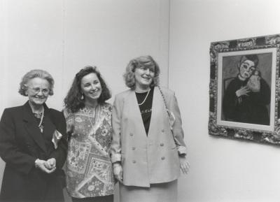 María Jawlensky, Angélica Jawlensky y Lucía Pieroni Jawlensky. Exposición Alexej von Jawlensky
